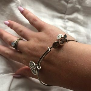 Alex and ani: letter K bangle